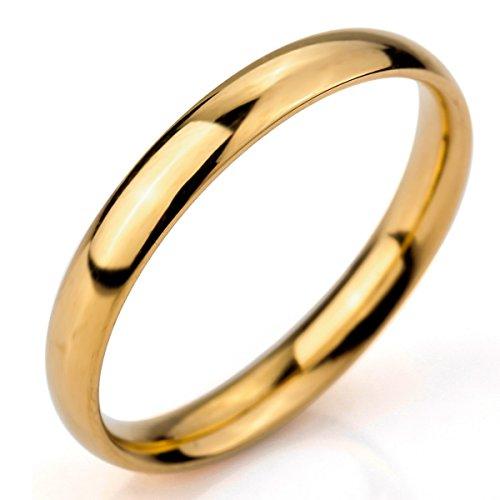 Anillo Oro Dorado hombre y mujer