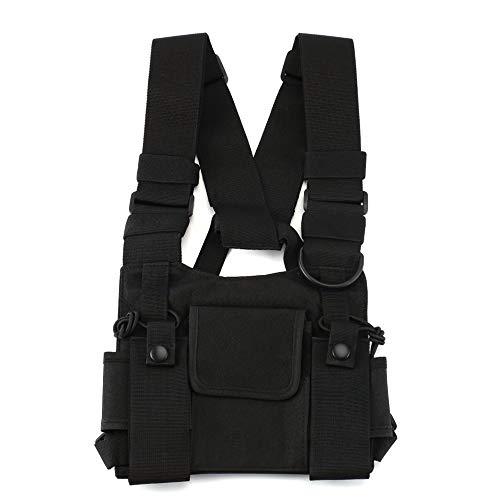 Radio Brustgurt Brust Vordertasche Weste Rig Brusttasche für Walkie Talkie Motorola Baofeng TYT Wouxun ()