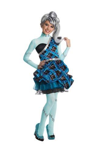 Frankie Stein Monster High Kostüm für Mädchen Deluxe (Frankie Kostüme Mädchen Stein)