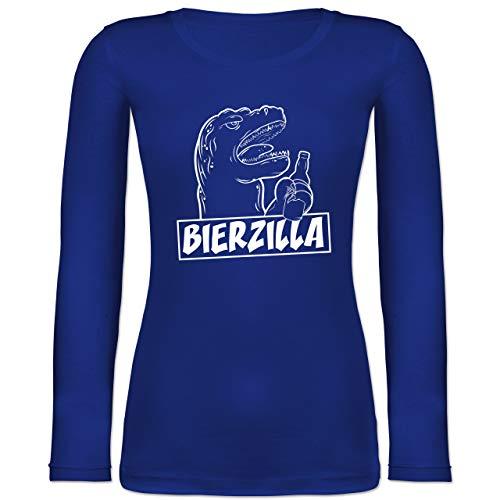 Shirtracer Halloween - Bierzilla - M - Blau - BCTW071 - Langarmshirt Damen (Gruppe Alkohol Halloween Kostüme)