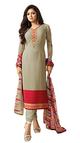 C&H Women's Crepe Salwar Suit Set (Sk-1707_Grey_Free Size)