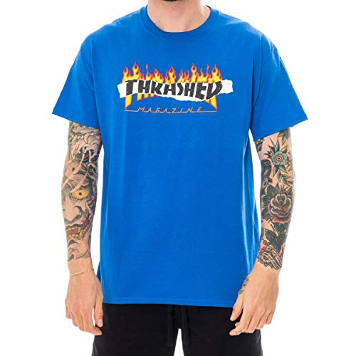 Thrasher t-shirt uomo ripped 144668.roy (s - royal blue)