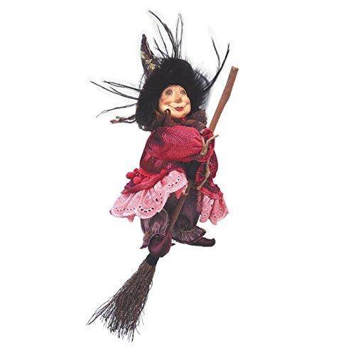 Hexen von Pendle–Anne Redfearn Hexe fliegend (Burgund) (Hexe Fliegende)