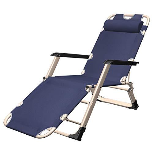 Liegestuhl, Luxus-Schwerelosigkeitsstühle - Liegestühle mit Kopfstütze zusammenklappen, Stahlrahmen und Oxford-Stoff für Patio, Unterstützt 440kg