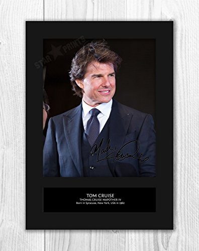 engravia Tom Cruise 1 mt – Signed Autograph Reproduktion Foto A4 Print Card Mounted