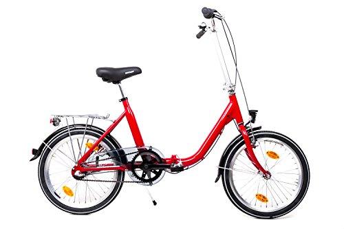 "20\"" Zoll Alu MIFA Klapp Fahrrad Faltrad Klapprad Shimano 3 Gang Folding Bike Rot"