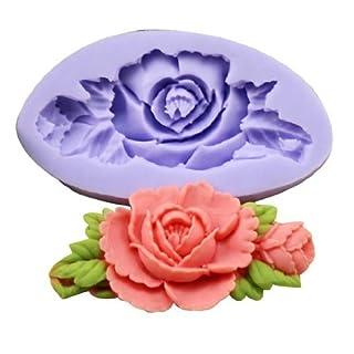Allforhome (1-Pack) Mini Flower Silicone Sugar Resin Craft DIY Moulds DIY gum paste flowers Cake Decorating Fondant Mold