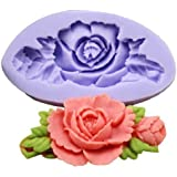 Allforhome (1-Pack) Mini Flower Silicone Sugar Resin Craft DIY Moulds DIY gum paste flowers Cake Decorating Fondant Mold