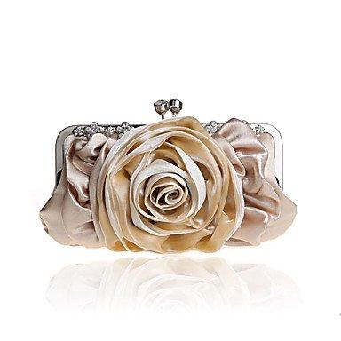 Frauen in Handarbeit Hochwertige Blume Diamant Seide und Satins Partei/Abend Tasche Almond