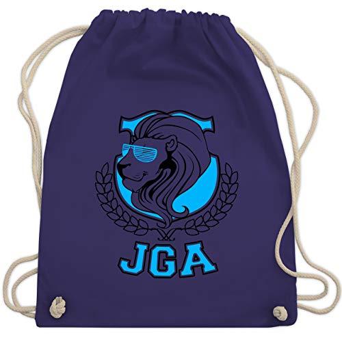 hied - JGA Löwe - Unisize - Lila - WM110 - Turnbeutel & Gym Bag ()