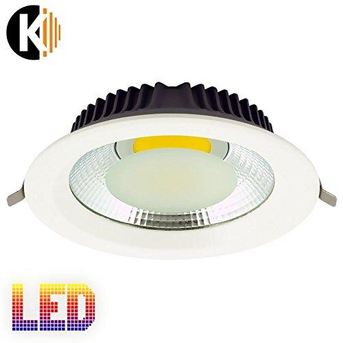 """Kwazar Leuchte Bürodeckenleuchten """"K-1"""" LED COB Lampe 5W / 10W / 20W / 30W 230V Tageslicht ca. 4000K Lampe Deckenspot Deckenlampe"""