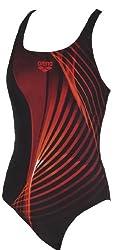 Arena 23985-50 Mixia Swimsuit, 16 Years (Black)