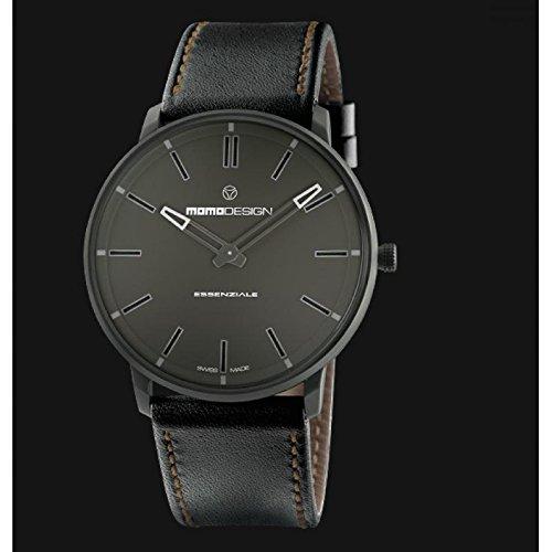 Uhr MOMO DESIGN wesentliche Sport md6002ru-12Quarz (Batterie) Stahl Quandrante schwarz Armband Leder