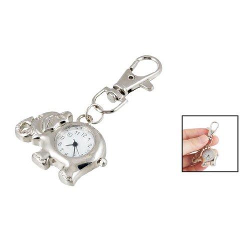 sodialr-elephant-shaped-arabic-number-round-dial-watch-key-ring-keychain