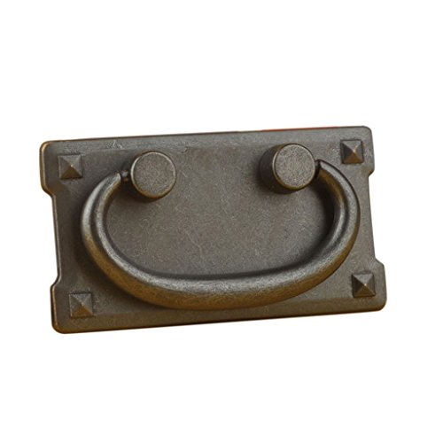 petsola Retro Kabinettknöpfe Schubladen Türbehälter Garderoben Drop Ring Zieht Den Griff - # 1 - Möbel-drop Zieht