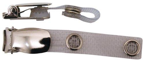 Preisvergleich Produktbild Hosenträger-Clip B mit ID-Strap aus verstärktem PVC Verchromter Hosenträger-Clip, verstärktes PVC-Band