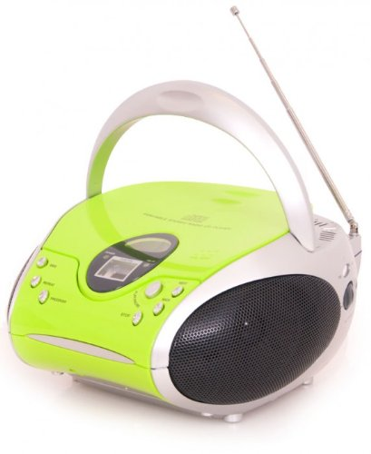 Lenco SCD-24 Stereo UKW-Radio mit CD-Player und Teleskopantenne green