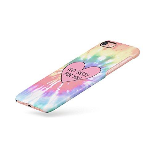 Hipster Peace Trippy Tie Dye Dünne Rückschale aus Hartplastik für iPhone 7 & iPhone 8 Handy Hülle Schutzhülle Slim Fit Case cover Too Sassy