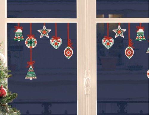 Xmas Fenstersticker Traditionelle Weihnachtshänger -