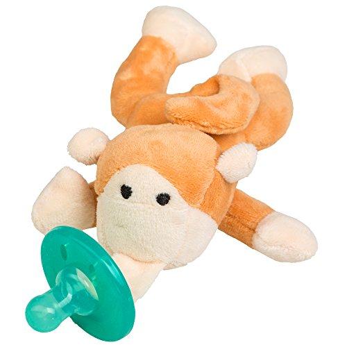 Schnuller Kuscheltier für Neugeborene Babys und Säuglinge ab 0 Monate (Affe)
