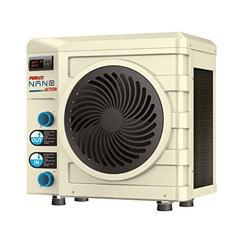 Poolex PC-NAN020 Wärmepumpe, Nano-r32-Reihe für kleine Becken, 20 m3-3000 W