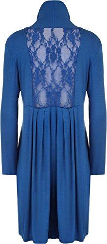 WearAll - Cardigan ouvert à manches longues avec une découpage en dentelle au dos - Cardigans - Femmes - Grandes tailles 40 à 56 Bleu électrique