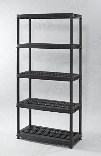 tour-de-rangement-tagres-en-plastique-18-mega-5-tiers-noir-max-charge-sur-tagre-60-kg-hauteur-1880-m