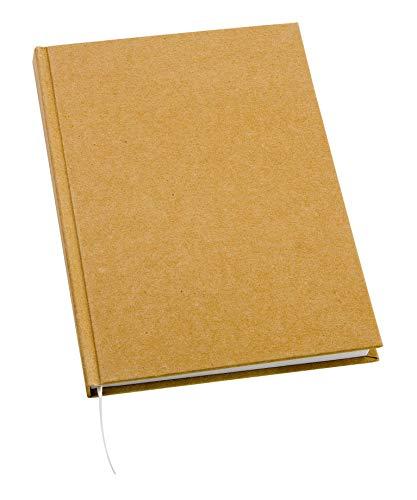 VBS Notizbuch, 200 Seiten Blanko Buch DIN A5 aus Pappmaché zum Selbstgestalten