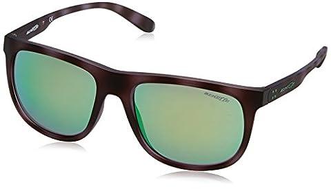 Arnette AN4235 2466/3R - Crooked Grind, Matte Violet Havana/Green Mirror, 56mm, Sunglasses