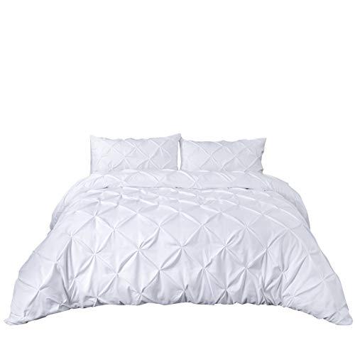 Bettdecken-Sets 2019, Einfache Pflegeleichte Polyesterfaser 2 / 3PCS 200TC Bettbezug und Kissenbezug No Sheet SetBedding Handmade Plaque Plain Farbe Einfachheit Style Lightweight -
