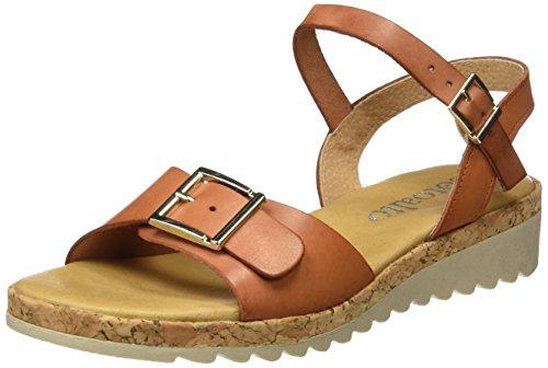 Sotoalto Damen 1115058971 Sandalen mit Knöchelriemen Braun