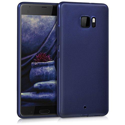 kwmobile HTC U Ultra Hülle - Handyhülle für HTC U Ultra - Handy Case in Hochglanz Blau