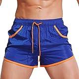 KPILP Herren Boxer Boxershorts Unterwäsche Sportswear Breathable Badehose Hosen Bademode Shorts Slim Wear Bikini Badeanzug Schwarz ( Blau,M