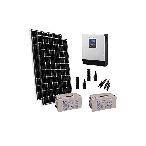 Preisvergleich Produktbild puntoenergia Italien - Kit Solar Rifugio Pro 600 W 24 V Panel Photovoltaik Wechselrichter 3000 W Akku 110 AH - kba-600 X P-24 - 3000-b110-avf