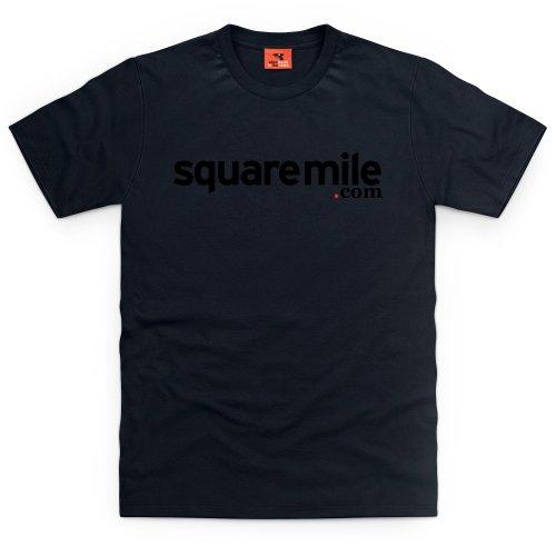 Square Mile Logo T-Shirt, Herren Schwarz