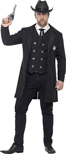 Fever 26530XXL - Herren Sheriff Kostüm, Jacke, Weste, Schlips und Hut, Größe: XXL, (Herren Kostüme Jacke)