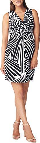 Noppies Damen Umstandskleid Dress sl Yara AOP, Knielang, All over print, Gr. 38 (Herstellergröße: M), Mehrfarbig (Black C270)