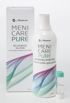 827b2eaad9c174 Menicare Pure multipurpose solution 250 ml for all Gas Permeable Contact  Lenses