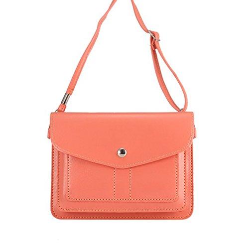Mobile-edge-pink Handtasche (PU-Leder 2Lagen Vertikal Handy Pouch Bag mit Schultergurt und magnetischer Knopf für Apple iPhone Samsung Galaxy und Andere Smartphone, Style3-Pink)
