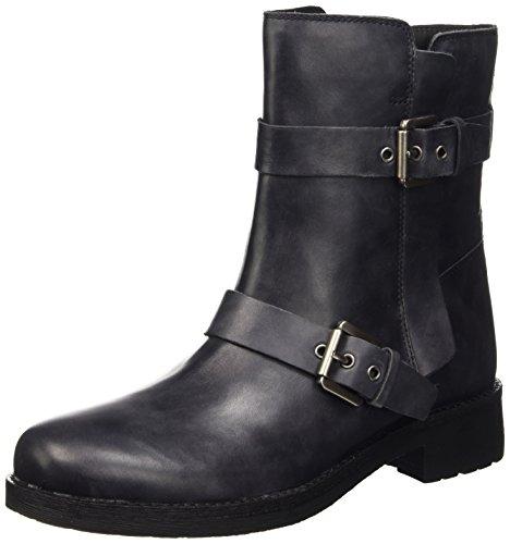 Geox Damen D New Virna E Biker Boots, Grau (ANTHRACITEC9004), 41 EU