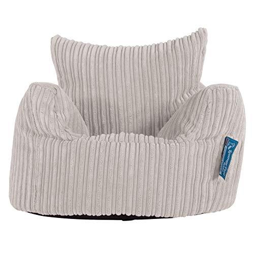 Lounge Pug, Poltrona Sacco per Bambini, Pouf, Corda Classica - Panna