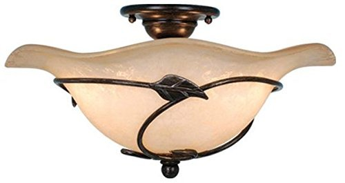 Vaxcel CF38815OL Vine Semi-Flush Mount (Dual Mount), 15, Oil Shale Finish by Vaxcel