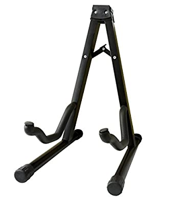 Feibrand Folding A-Frame Guitar Stand Black for Acoustic Bass and Electric Guitars