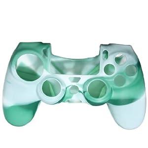 Assecure Silikon-Schutzhülle für Sony PS4-Controller mit gummiertem Griff