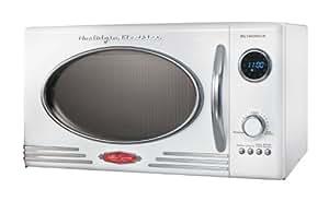 Nostalgia Electrics RMO-400WHT Retro Series .9 CF