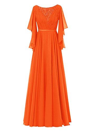 Dresstells, Robe de soirée Robe de cérémonie Robe de mère de la mariée longueur ras du sol Orange