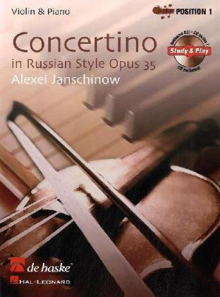 Concertino op. 35 in Russian Style, für Violine, m. Audio-CD Audio-style