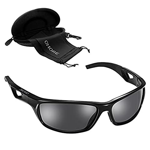 OMorc Polarized Sports Sunglasses UV400 Protection Unbreakable Sports Glasses with TR90 Unbreakable Frame for Men and Women in Fishing Skiing Driving Golfing Running Cycling Camping Sports and Outdoors