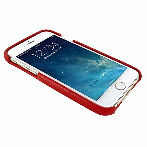 Piel Frama 683COP Etui pour iPhone 6 Effet Crocodile Pourpre Crocodile Red