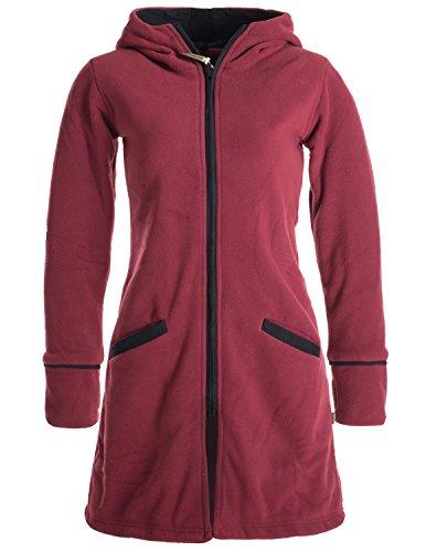 8fc115e9d520 Vishes- Alternative Bekleidung - Warmer Wintermantel aus Eco Fleece mit  Zipfelkapuze dunkelrot 40-42